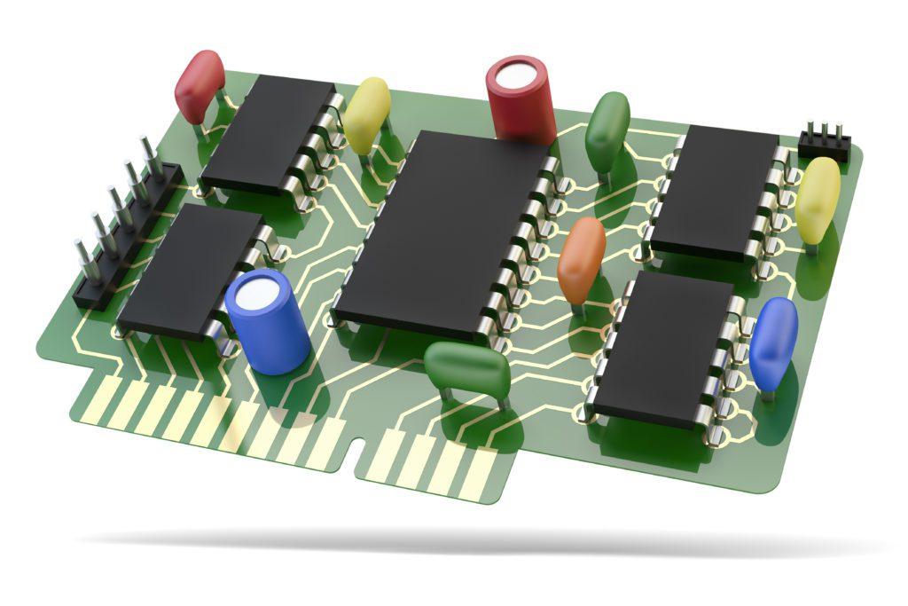 3D CAD circuit model components in a PCB