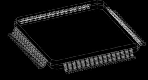 Flat-pack IC 3D electronic component models