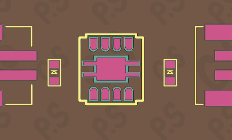 Component courtyard management with silkscreen