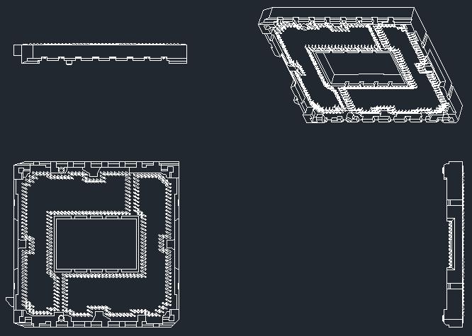 LGA package footprints