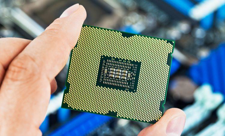 LGA package footprints on a CPU